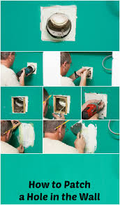 how to patch a hole in the wall home improvement project diy around