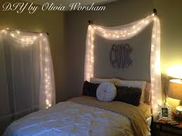 Lighting For Bedroom String Lights With White Sheer Drapes D E S I G N S By