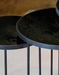 image description tris set di tavolini rotondi charcoal di notre monde intersecabili