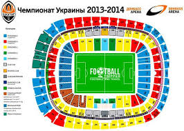 Kiev Olympic Stadium Seating Chart Donbass Arena Fc Shakhtar Donetsk Football Tripper