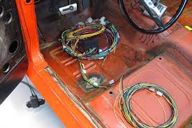 how to get a cool restomod interior the 1966 wiring is often sketchy at best so we replaced the entire wiring harness a direct fit mustang chassis harness pn 20120 from painless