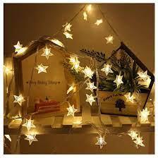 Dây đèn led trang trí hình ngôi sao màu vàng ấm xinh lung linh - hàng có  sẵn (được tặng kèm pin) ❣❣ - Bóng đèn Hãng No brand