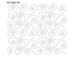 Longarm Quilting Designs Free Van Gogh Quilting Designs Longarm Quilting Quilts