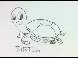 Small Picture How to Draw a Cartoon Turtle YouTube