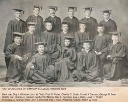 simpson college graduates w t robinson honorary degree doctor of divinity charles c smith nola iowa bachelor of arts