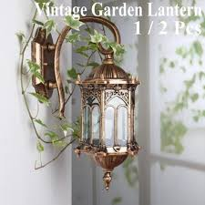vintage garden wall light waterproof bronze aluminum outdoor lamp retro lantern for