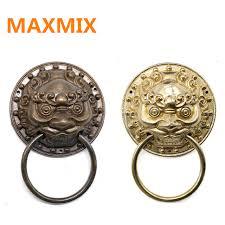 95mm chinese antique door ring handle beast lion tiger head door handle wooden door handle handle