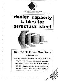 Design Capacity Asi Design Capacity Table To As 4100 Open Section Pdf