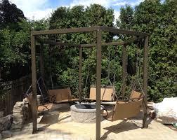 Fire Pit Swing Amazing Porch Swing Fire Pit Designs Ideas