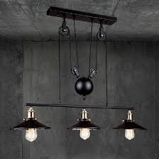 pulley pendant lighting. discount rh loft vintage iron industrial led american country pulley pendant lights adjustable wire lamp retractable lighting 110v 240v coloured glass g
