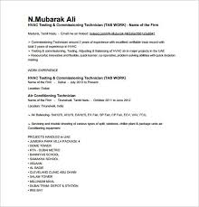Hvac Resume Samples Stunning Gallery Of Hvac Resume Help Hvac Technician Resume Examples