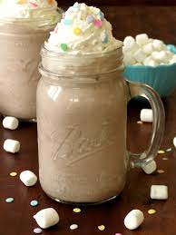 hot chocolate with marshmallows and whipped cream. Modren Marshmallows Creamy Frozen Hot Chocolate With Homemade Whipped Cream  Sprinkle Some  Sugar To With Marshmallows And T