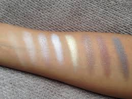 for all the rows the first few shades are lighter perfect as a base or crease shade and the second half are a little smokier