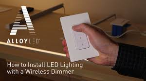 Wireless Dimmer For Led Lights How To Install Led Lighting With A Wireless Dimmer