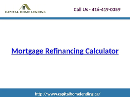 Mortgage Refinancing Calculator Video Dailymotion