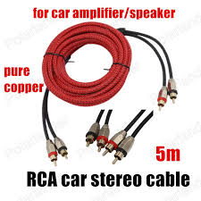 popular subwoofer wire adapter buy cheap subwoofer wire adapter Subwoofer Speaker Wire Adapter 1pcs 5 meters red pure copper cable car audio amplifier speaker subwoofer sets rca to rca subwoofer cable to speaker wire adapter