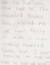 quality writing comes when students are invested in their projects below is the ghostly scary mystery by allie haberman