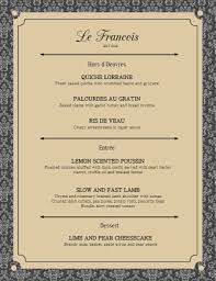 french menu template elegant french menu card template postermywall