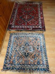 set of two persian rugs ghashghai 170 x 120 cm 100 x 100