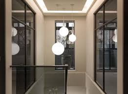 staircase lighting design. Pendant Lights, Fascinating Stairwell Lights Light Over Stairs White Ball Light: Staircase Lighting Design Z