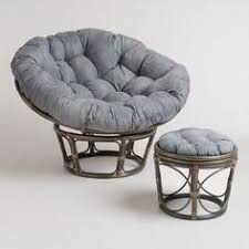 feel the stress of the day melt away as you sink into our exclusive luxurious charcoal micro suede papasan chair cushion this tufted cushion is built for