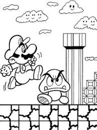 Super Mario Punt Naar Punt Geprint Kinderen T Super