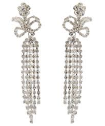 statement french empire chandelier drop clip on earrings