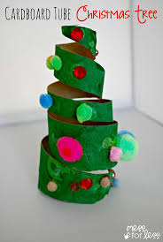 Christmas Crafts for Kids - Cardboard Roll Christmas Trees. Such a great  way to used