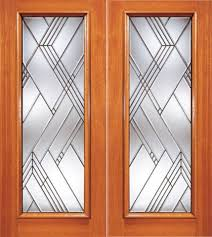 modern beveled glass entry double door triple glazed glass option front doors