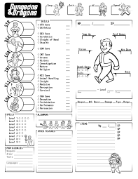 dungeons and dragons character sheet online fallout d d now with spelling fallout rpg and dragons