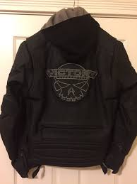 victory motorcycle men s medium 2 n 1 leather jacket