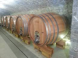 Storage oak wine barrels Rack Houzz Slovenian Oak Round Casks
