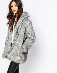 religion fluffy faux fur coat