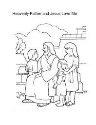 Small Picture Heavenly Father and Jesus Love Me Coloring Page Color Luna