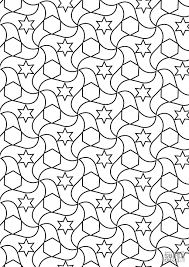 Islamic Art Coloring Pages Alhambra Tessellations Free Printable