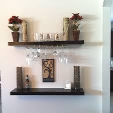 ... Ikea Lack Shelves With Ikea Wine Glass Rack Attached To The Bottom Wine  Glass Rack Shelf ...