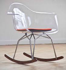 lucite rocking chair from kubikoff collection