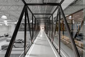 uber office design studio. Blackened-steel Bridge Connecting Two Wings Of Uber\u0027s Advanced Technologies Group Office In Pittsburgh By Assembly Design Studio. Uber Studio