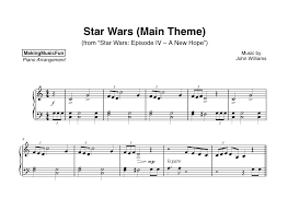 Sheet music arranged for big note, and easy piano in c major. Star Wars Main Theme Piano Sheet Music Pdf Bluebird Music Lessons