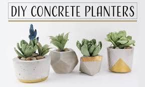 DIY Concrete Planters - Maceteros De Concreto