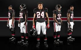 Black Wearing The 90's Falcons com Secrant Unis This Sunday