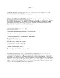Fast Food Cashier Job Description Resume | Resume For Study