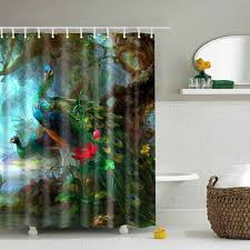 pea printed design polyester shower curtain colormix l