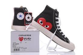 Play X Converse Chuck Taylor Hidden Heart Black High Sneaker