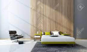 Moderne Schlafzimmer Interieur Mit Einer Doppelschlafcouch Und