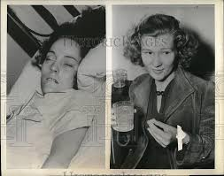 Louise Rich Wilma Rich Strep Throat Patient Chattanooga 1939 Vintage Press  Photo Print | Historic Images