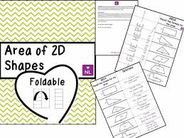 area of 2d shapes foldable