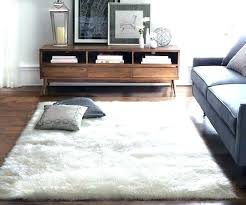 faux fur rug sheepskin area rugs give your living room a softer look with how to make your own faux fur rug