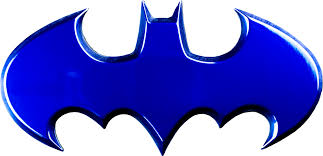 Batman - Batman Logo Blue Chrome Premium Fan Emblem by Fan Emblems