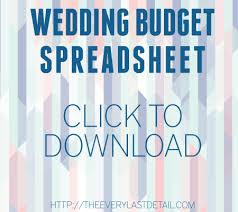 Wedding Detail Checklist Wedding Budget 101 Every Last Detail